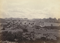 Ruins of Vijianuggur [Vijayanagara]. near Calamapoor [Kamalapuram]. General view of ruins